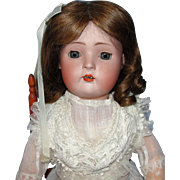 Pretty Antique German Bisque Character Doll - Revalo or Hertel & Schwab