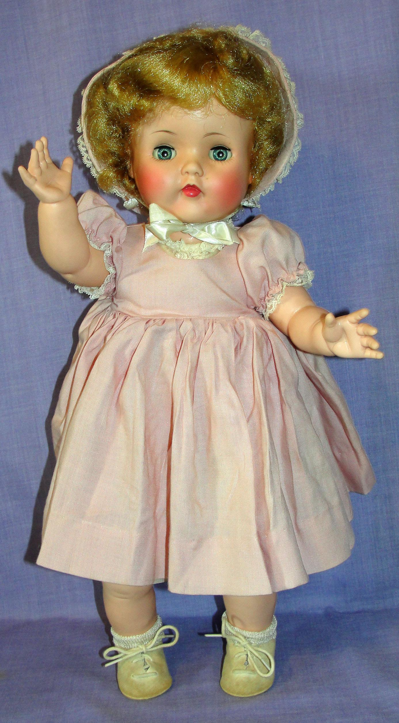 Rare 1954 Madame Alexander Vinyl Bonnie Toddler Doll