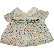 """SALE PENDING Shirley Temple 13"""" Doll Dress from the Movie Captain January"""