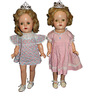 Two 1937 Madame Alexander Composition Dolls - Twin Sisters