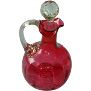 Antique Estate Cranberry Glass Cruet