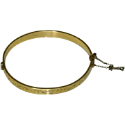 Victorian 9ct Gold on Bronze Classic Bangle Bracelet