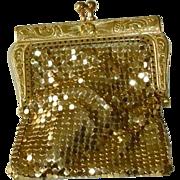 Vintage Gold Tone Mesh Small Purse