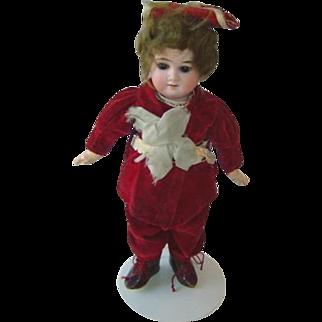 Antique German Boy Doll with Swivel Head All Original