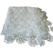 SOLD Vintage Hand Crochet Lace Tablecloth