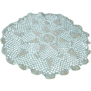 Vintage Large Hand Crocheted Doily