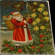 SOLD Antique Santa Christmas Post Card c1900