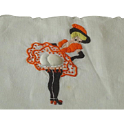 SOLD Vintage Naughty Lady Cocktail Napkin