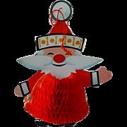 SOLD Vintage Honeycomb Christmas Santa