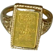Fine Art Deco Gold Credit Suisse Ring