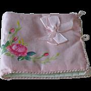 Vintage Silk Hanky Hankie Handkerchief Case