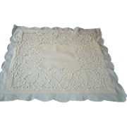 Vintage Pair Linen Embroidered Cushion Covers