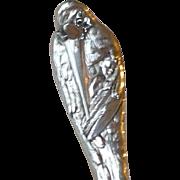Vintage Sterling Silver Stork Birthday Spoon