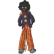 Antique Black Americana Red White and Blue Patriotic Golliwog Doll