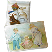 SOLD Vintage Die Cut Miniature Box with Toys for Doll