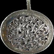 Antique Dutch Silver Bird and Grotesque Devil Head  Bon Bon Spoon c.1900