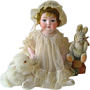 Antique Heubach Koppelsdorf German Bisque 320 Doll Original Wig, Open Mouth, Teeth, Sleep Eyes
