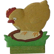 Vintage Hand Painted Dresden Chick