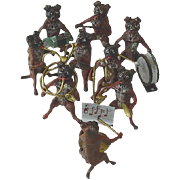 SALE Antique Estate Vienna Cold Painted Bronze English Bulldog Band c1915