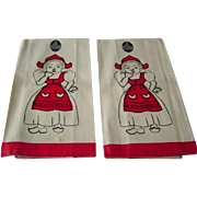 Vintage Linen Tea Towels MWT