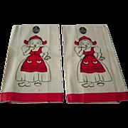 Vintage Linen Tea Towels MWT