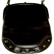 Vintage Leather Purse with Studs