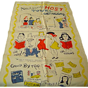 Vintage Newlyweds Crying Towel