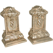 Silver Leaf Bookends Early 1900's