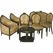 Italian Parlor Set 11 Piece 18th Century New Upholstery