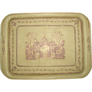 Signed French Tray Trompe L'oiel Beautiful 20th Century