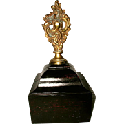 Mounted Bronze Finial Paperweight France 19th Century