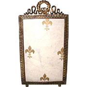 French Brass Frame Photo 19th Century Ornate