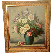 Signed Original Oil Early 1900's New Ornate Frame