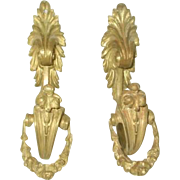 Bronze Tiebacks Hooks France 19th Century Pair