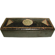 Leather Jade Box 19th Century Gentleman's Valet