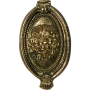 French Door Knocker Brass Lion Early 1900's