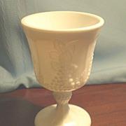 SOLD Imperial Milk Glass Vintage Grape Footed Goblet