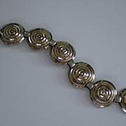 Napier Sterling Modernist Orb Link Bracelet