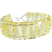 Jonquil Yellow Swarovski Crystal Cuff Style Statement Bracelet