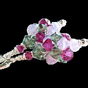 Swarovski Crystal Cluster Bead Earrings In Garden Shades