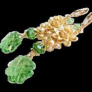 Four Leaf Clover Swarovski Crystal Earrings