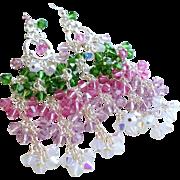 Swarovski Crystal Colorful Chandelier Earrings