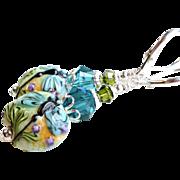 SOLD Dragonfly Lampwork Glass Earrings