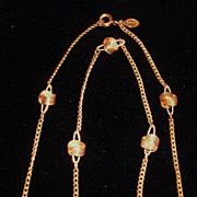 Vintage Avon Gold Tone Love Knot Necklace