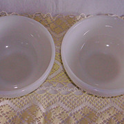Anchor Hocking Fire King Milk Glass Chili Bowls