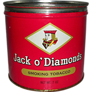 Jack o' Diamonds Smoking Tobacco Tin Key Wind