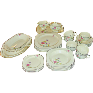 1930's Homer Laughlin 36 Pc Dinner Service for 6 Century by Wells
