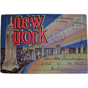 Souvenir Folder of New York by Night Army Postal Stamp