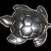 Sterling Silver Sea Turtle Brooch Pin