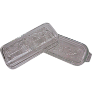 SALE Hazel Atlas Depression Glass Ivy Butter Dish